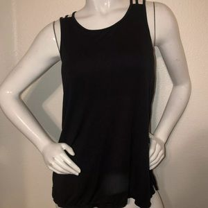 Athleta Black Strappy Back Tank top Large
